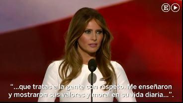 Melania Trump plagia parte del discurso de Michelle Obama de 2008