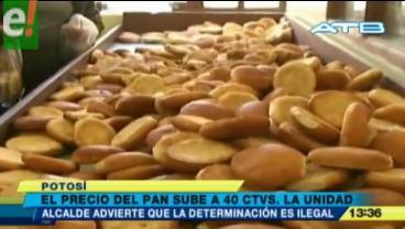 Panificadores de Potosí incrementaron el precio de su producto