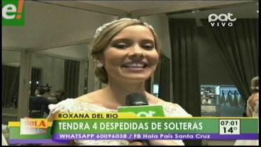 Roxana Del Río ya disfruta de sus despedidas de soltera