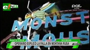 Santa Cruz: Rescatan a persona que quedó atrapada en la Montaña Rusa de un parque