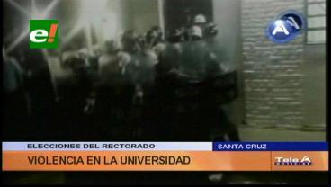 Tras anuncio de balotaje  Rosas-Jaldín se desatan enfrentamientos en la 'U