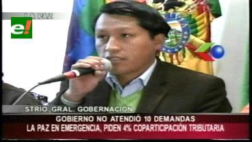 La Gobernación de La Paz se declara en emergencia por falta de recursos