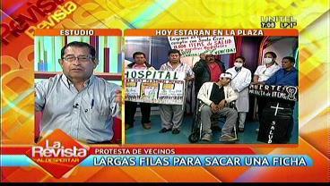 Santa Cruz: Vecinos exigen 11.000 ítems para salud