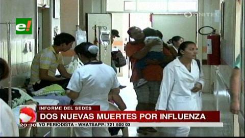 Confirman dos nuevas muertes por influenza en Santa Cruz