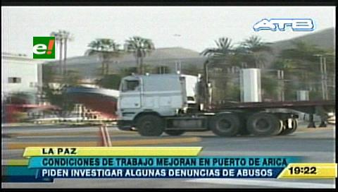 Mejora el trato a los transportistas boliviano en el Puerto de Arica