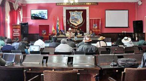 Vista de la Asamblea Legislativa de Oruro