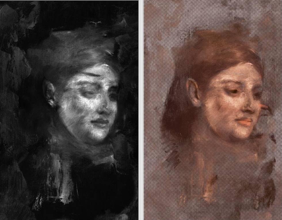 El retrato escondido de Emma Dobigny encontrado en