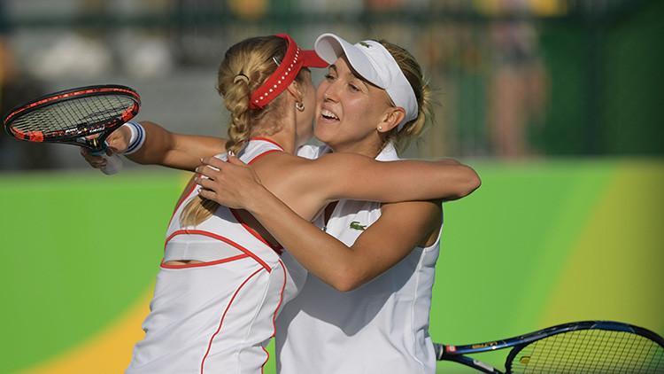 Las tenistas rusas Ekaterina Makárova y Elena Vesniná