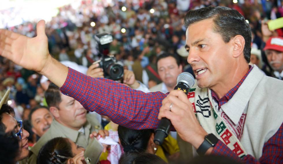 Peña Nieto durante un acto público esta semana
