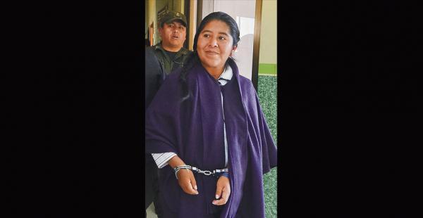 Cristina Choque, exfuncionaria del Ministerio de la Presidencia