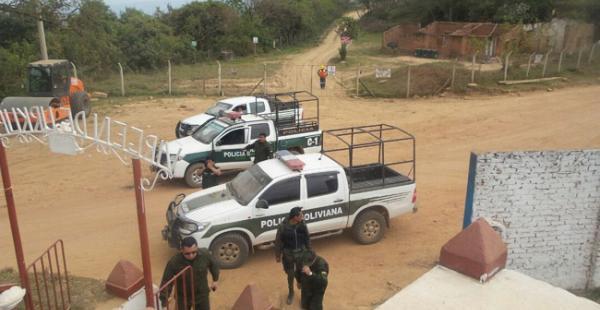 La Policía llegó al campo con la misión de resguardar la seguridad