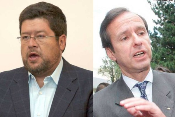 POLÍTICOS. Samuel Doria Medina y Jorge Tuto Quiroga, ambos opositores al MAS.
