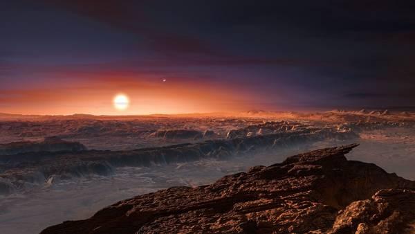 Ilustración realizada por el ESA de la posible superficie del planeta Próxima b. AFP.