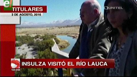 Titulares de TV: Insulza visitó el Río Lauca y calificó de absurdo el reclamo boliviano