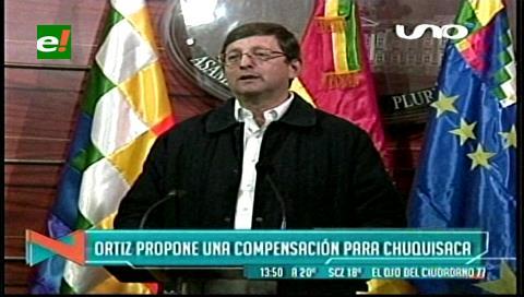 Incahuasi: Senador Ortiz propone una compensación para Chuquisaca