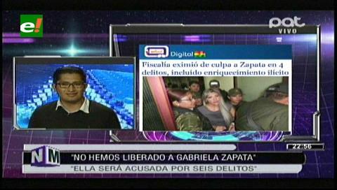 """Fiscal Blanco: """"No liberamos a Zapata, tiene que defenderse de seis acusaciones"""""""