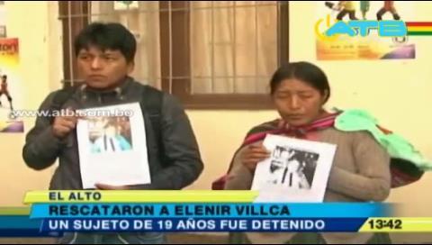 Rescatan a niña desaparecida en El Alto
