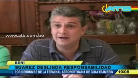 Ernesto Suárez deslinda responsabilidad en la construcción del aeropuerto de Guayaramerín