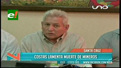 Costas pide buscar una solución pacífica al conflicto minero