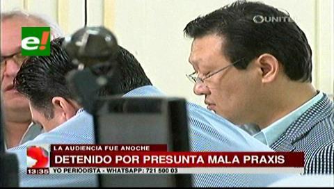 Envían a Palmasola al médico acusado de dejar una gasa dentro de una paciente