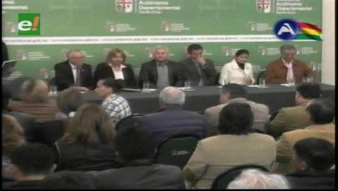 Autoridades cruceñas se reúnen para tratar el Pacto Fiscal