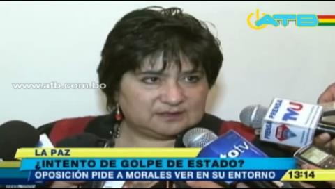 Oposición rechaza versión de golpe de Estado