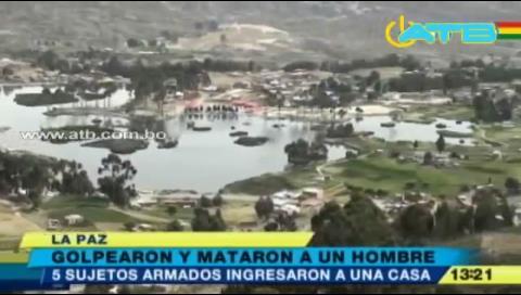 La Paz: Golpean y matan a un sujeto en Achocalla