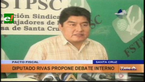 Diputado Rivas afirma que propuesta de Costas sobre el pacto fiscal no fue consensuada con todos los sectores
