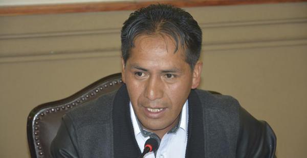 El concejal paceño del Movimiento Al Socialismo (MAS), Mario Condori