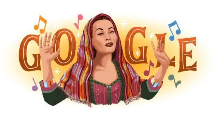 Google recuerda con 'doodle' a la cantante peruana Yma Sumac