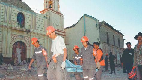 Así quedó parte de Aiquile (Cochabamba), tras el terremoto de 1998.