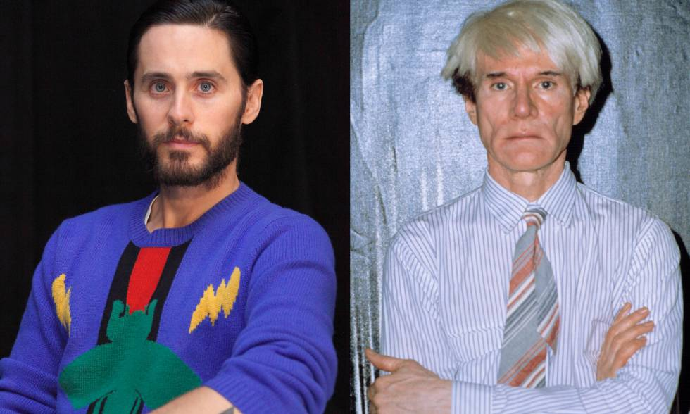 El actor Jared Leto y el artista Andy Warhol.