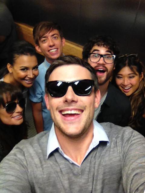 Cory Monteith, Lea Michele, Darren Criss