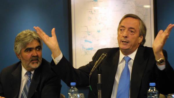 Ex Presidente Néstor Kirchner y ex gobernador de Santa Cruz, Sergio Acevedo.