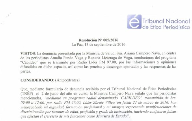 """Amalia Pando dice que es """"justo"""" el fallo del Tribunal de Ética Periodística"""