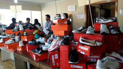 La mercadería en subasta. Foto: ABI