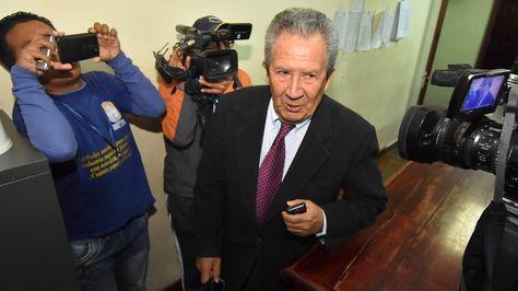 El periodista Humberto Vacaflor en la audiencia que se realizó este miércoles en La Paz.