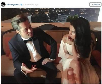 Pitt, cómplice junto a Selena Gomez. ¿La estaba seduciendo?