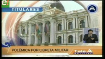 Titulares de TV: Ministro de Defensa llama cobarde a Rafael Quispe