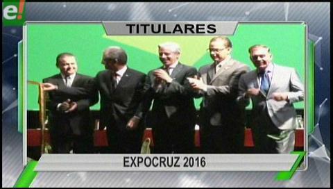 Titulares de TV: Inauguran Expocruz 2016