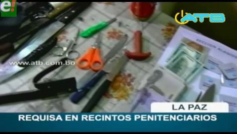 Régimen penitenciario realizó requisas en cárceles de La Paz