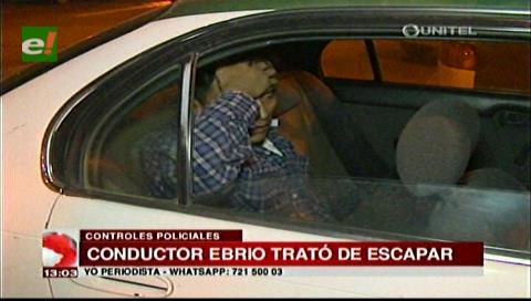 Un conductor ebrio se sube a un micro por tratar de escapar de la Policía