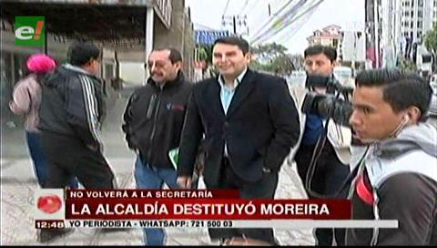 Alcaldía cruceña confirma la destitución de Moreira como secretario de seguridad ciudadana