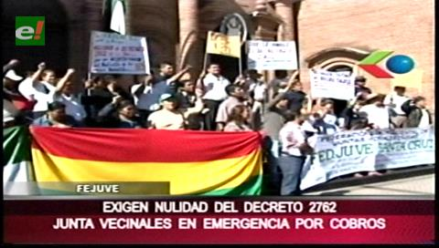 Fejuve de Santa Cruz anuncian huelga contra aporte adicional de ctvs 0.50 a cooperativas
