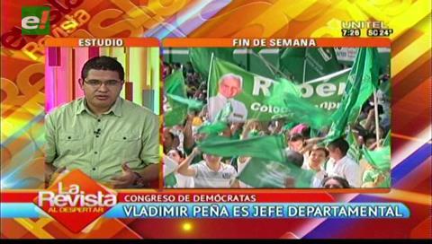 Santa Cruz: Vladimir Peña es el nuevo jefe departamental de Demócratas