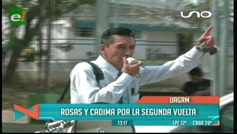 Uagrm: Cadima y Rosas inician campaña para la segunda vuelta