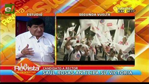 """Rosas ve """"irreversible"""" su victoria y dice que Cadima seguirá como docente"""