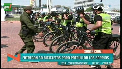 Policías patrullarán los barrios en bicicletas