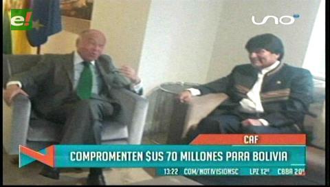 CAF compromete más de $us 70 millones para fortalecer sector productivo de Bolivia