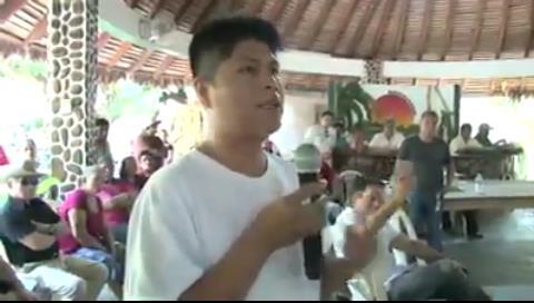 """Dirigente indígena al gobierno: """"no nos engañen con el proyecto hidroeléctrico El Chepete y El Bala"""""""